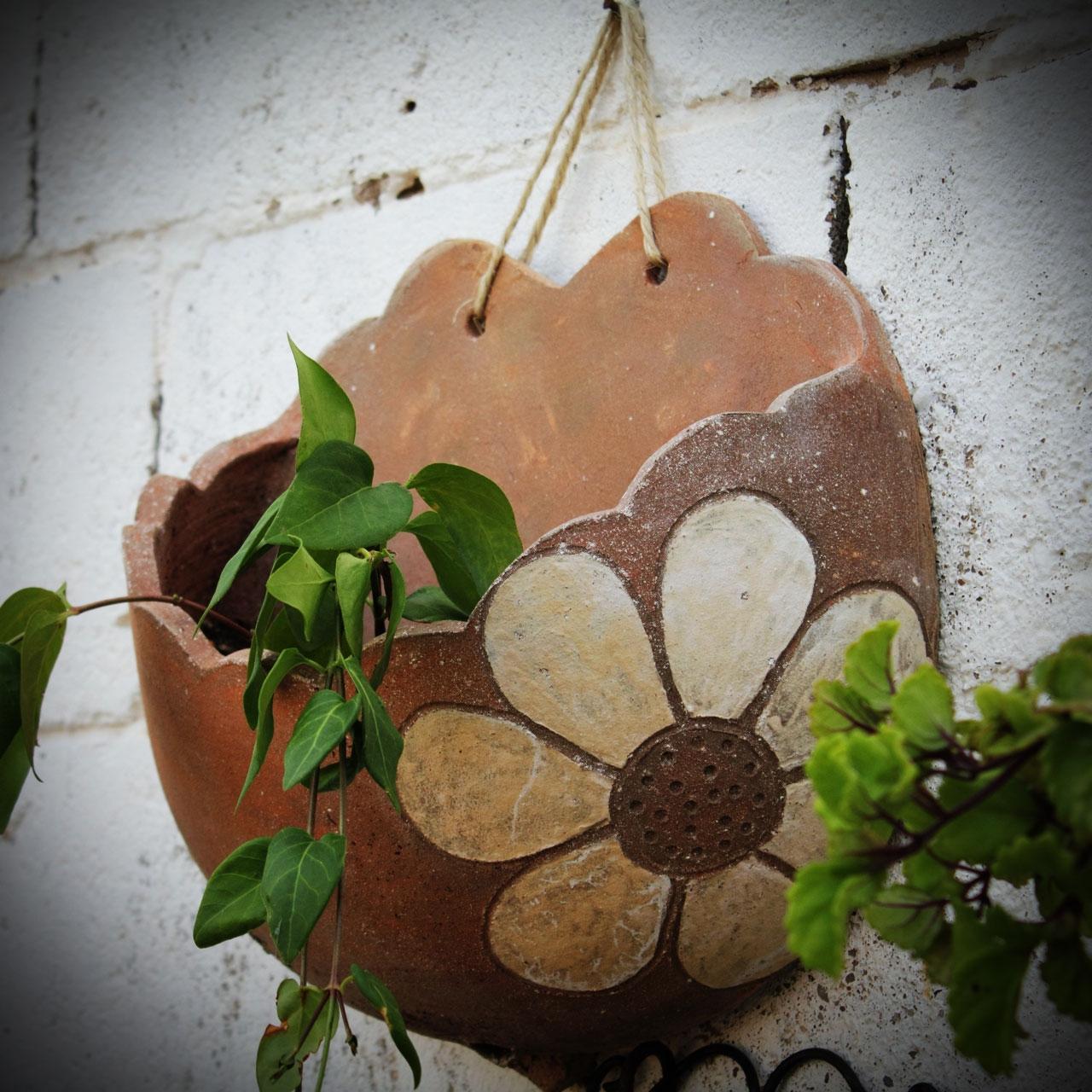 Jardinera de pared tinajas orozco - Jardineras de barro ...